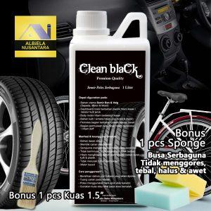 Semir Ban 1 Liter merek Clean blaCk